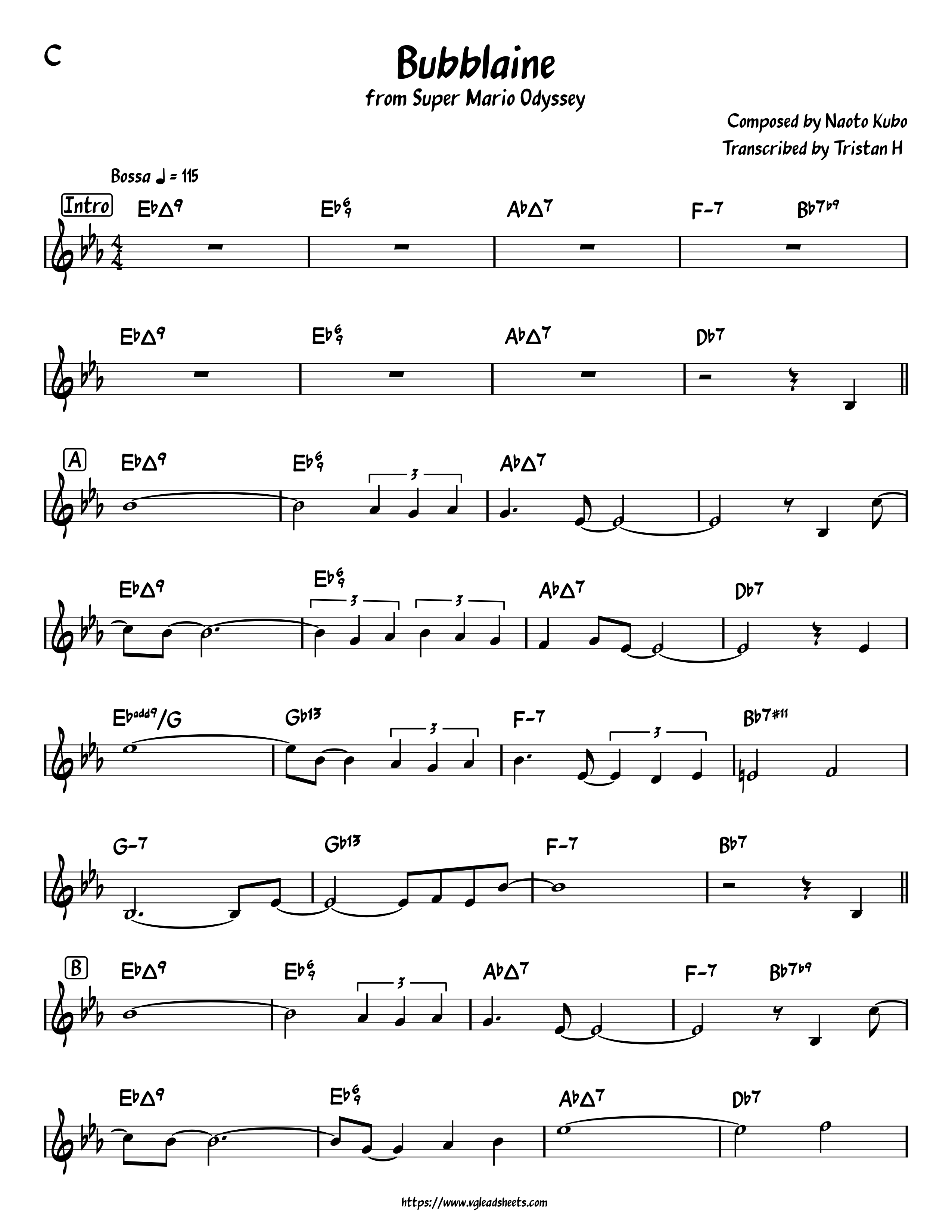 Super Mario Odyssey Bubblaine Vgleadsheets Com Lead Sheets For Video Game Music Top rock guitar and ukulele chords. vgleadsheets com